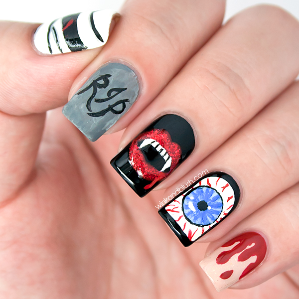 ... halloween nail designs pictures ... - Halloween Nail Designs Pictures - Yve Style
