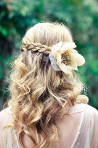long curly wedding hairstyles