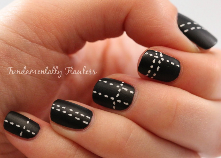 matte black nail designs Top 10 Black Nail Designs