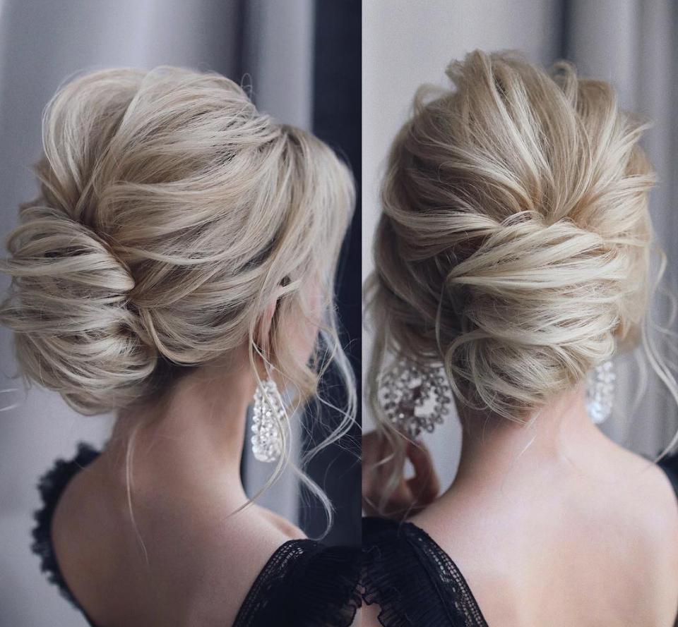 messy bun hairstyles