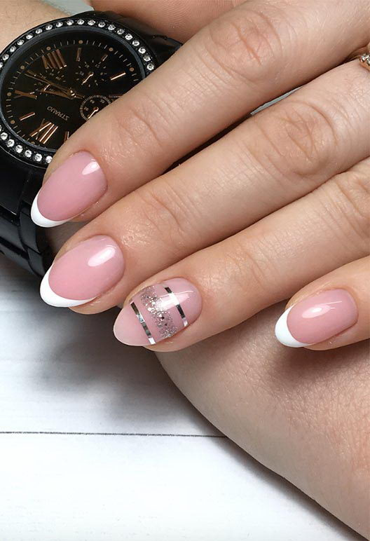 nail art designs on french tip
