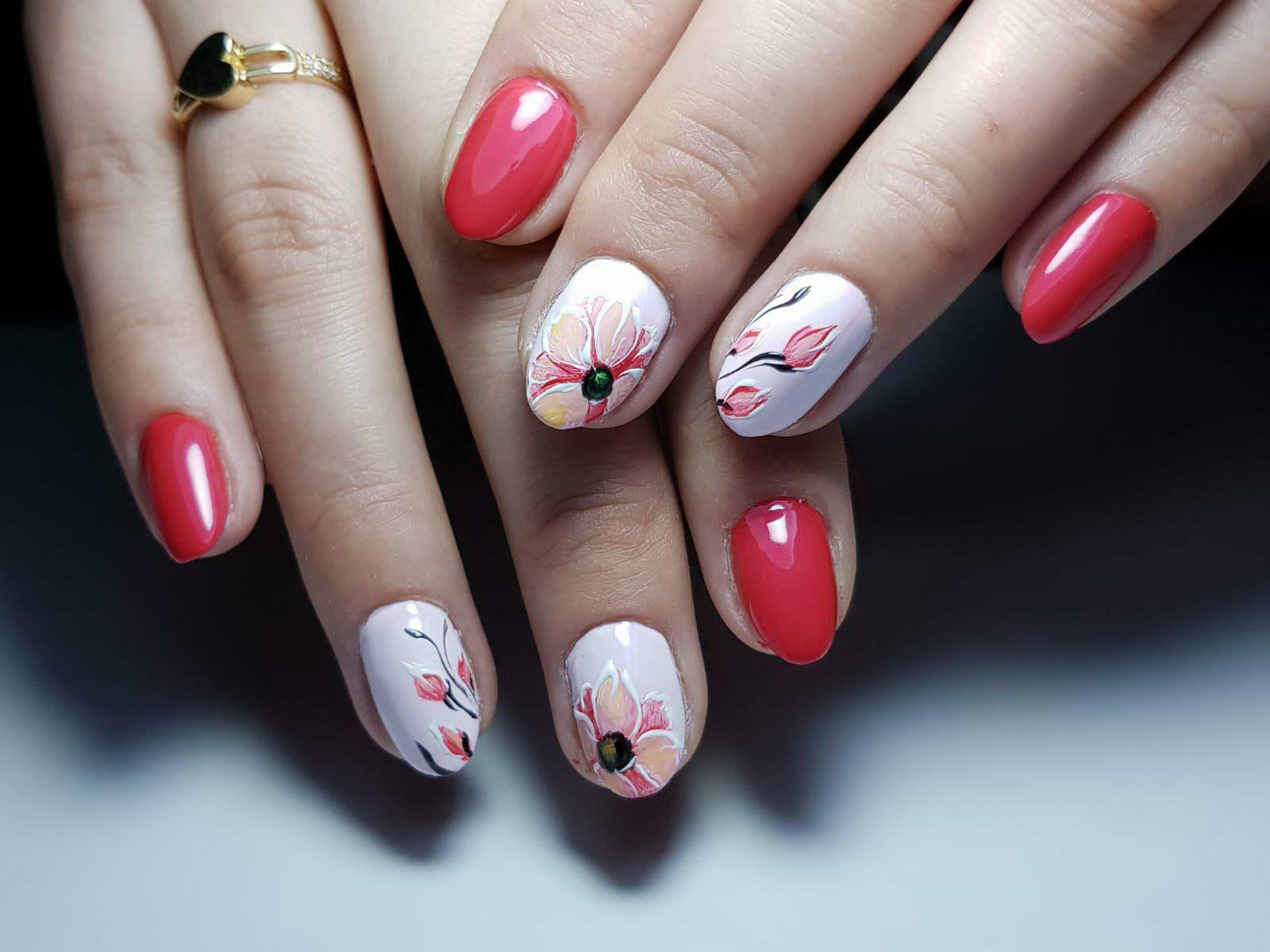 nail art flower designs
