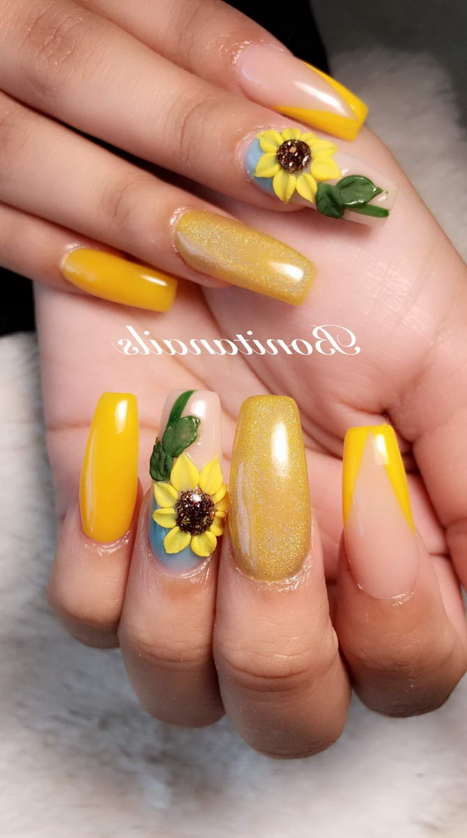 nail art simple flower designs