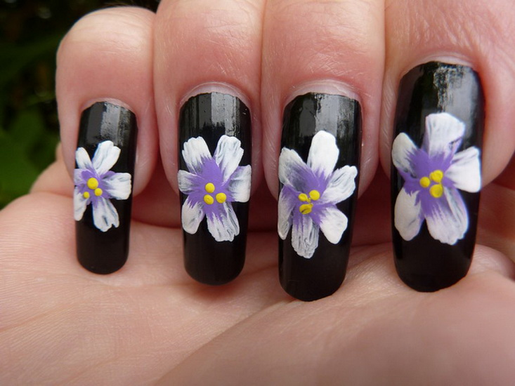 nail designs 3d flower Beautiful pictures with Flower nail designs