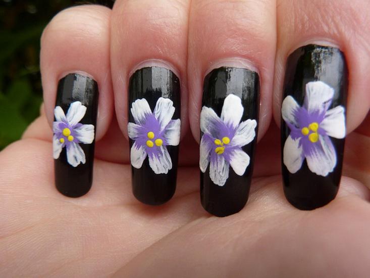 nail designs 3d flower