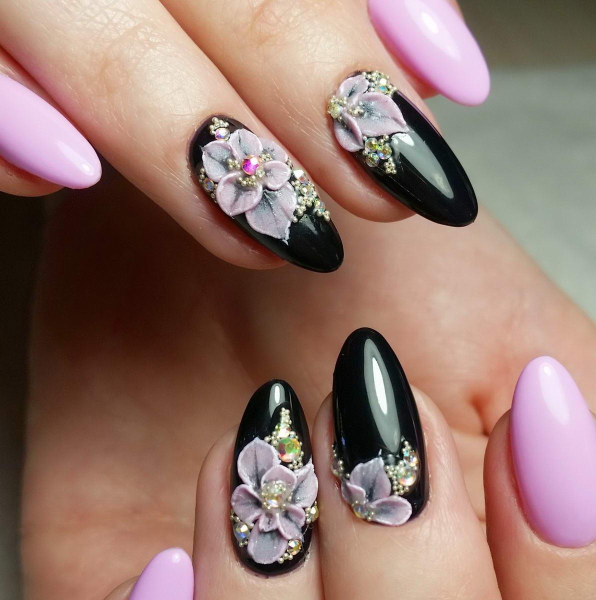 nail designs flower