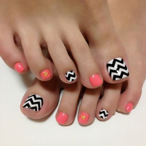 nail designs for toes