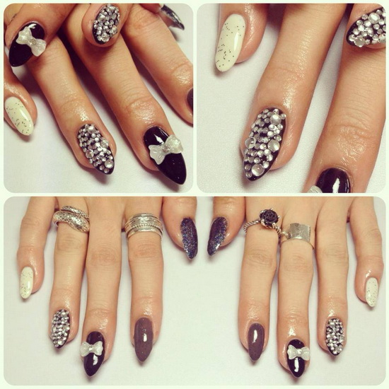nail designs stiletto Stiletto nail designs: most beautiful ideas