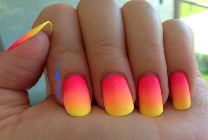ombre summer nails deisgn