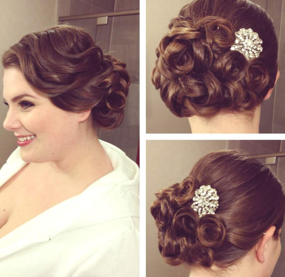 pin up hairstyles UPDO