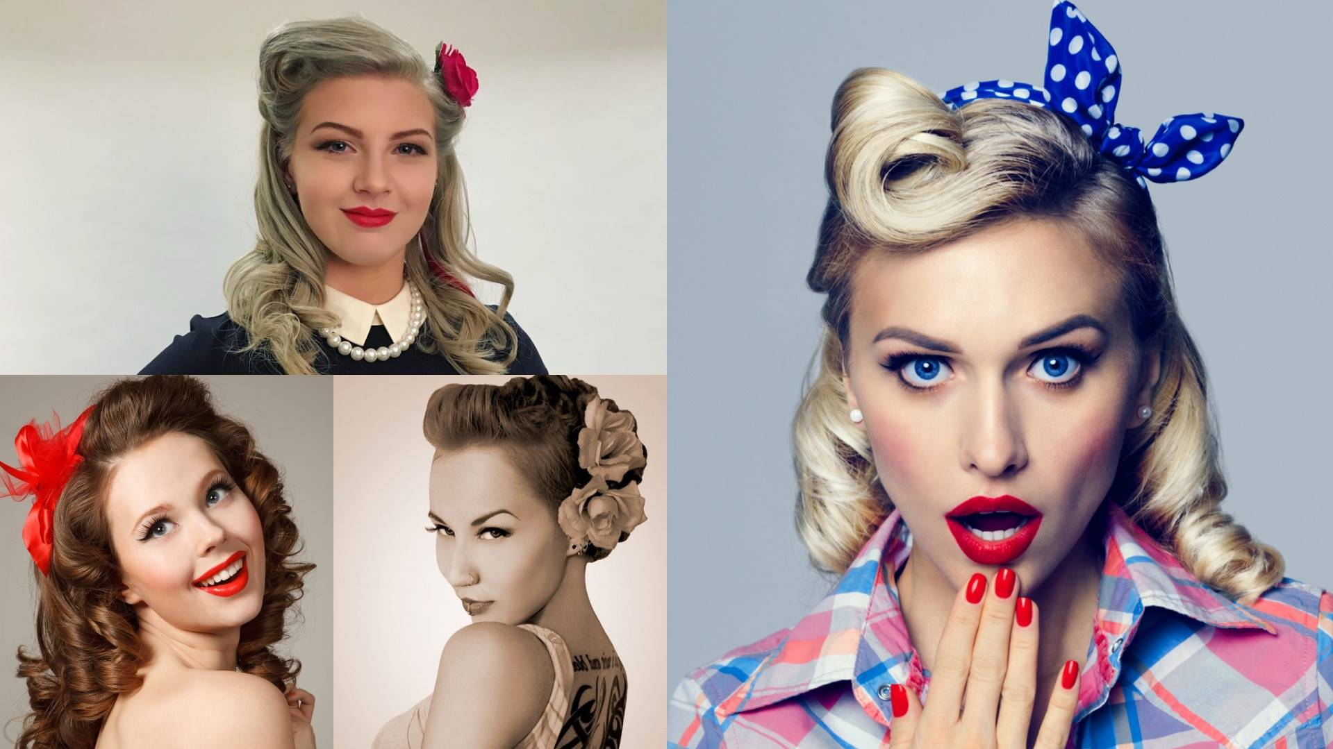 pin up hairstyles for medium hair