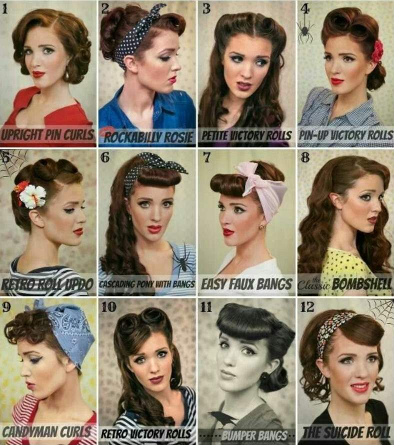 pin up hairstyles with accessories