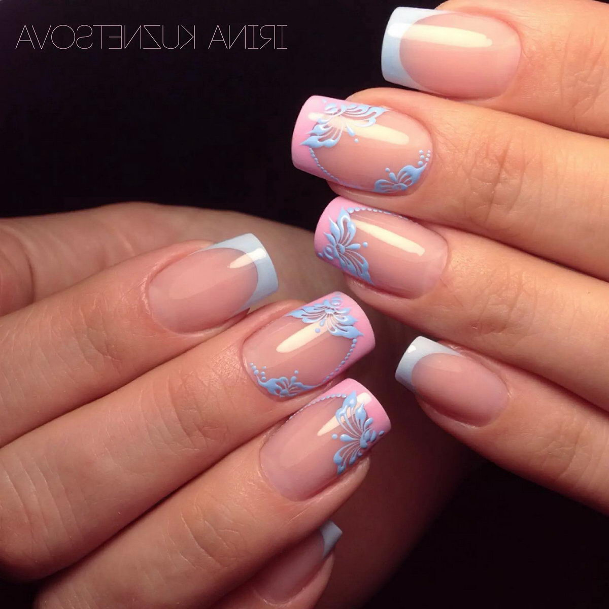 pretty french tip nail designs