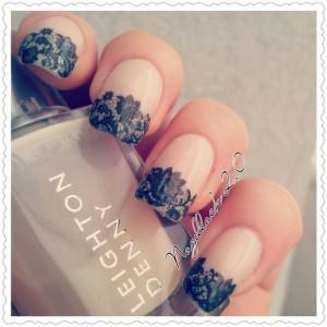 pretty french tip nail designs