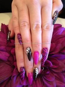 pretty stiletto nail designs