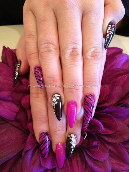pretty stiletto nail designs Stiletto nail designs: most beautiful ideas