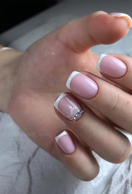 prom french tip nail designs