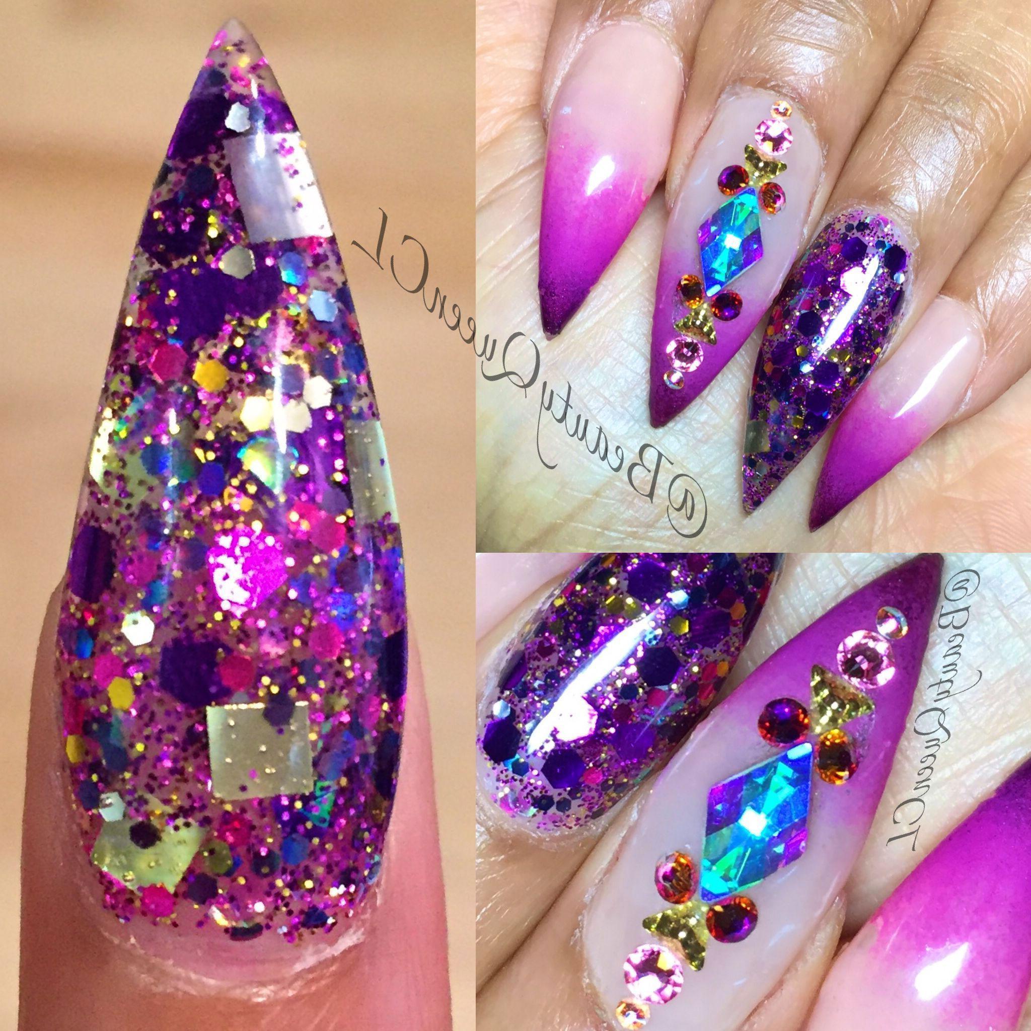 purple-glitter-nail-designs