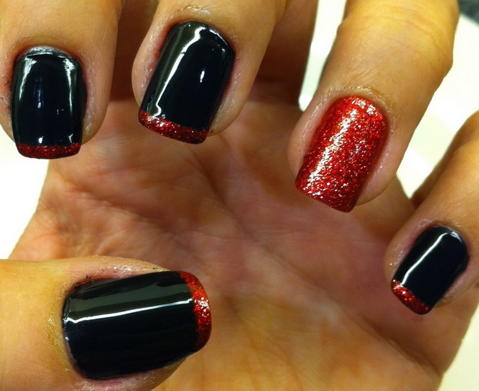 red and black nail designs Top 10 Black Nail Designs