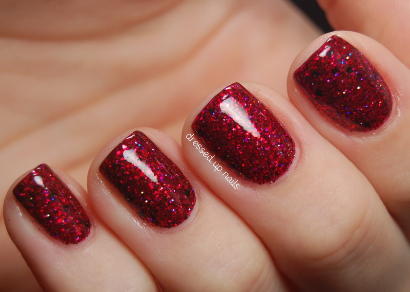 red glitter nail designs Glitter nail designs for shiny hands