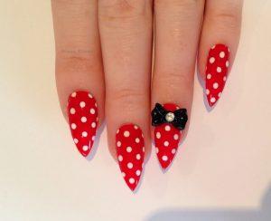 red stiletto nail designs