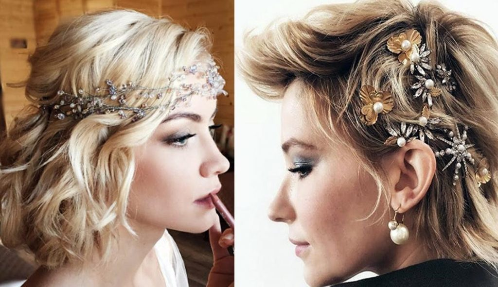 short hairstyles for weddings for bridesmaids