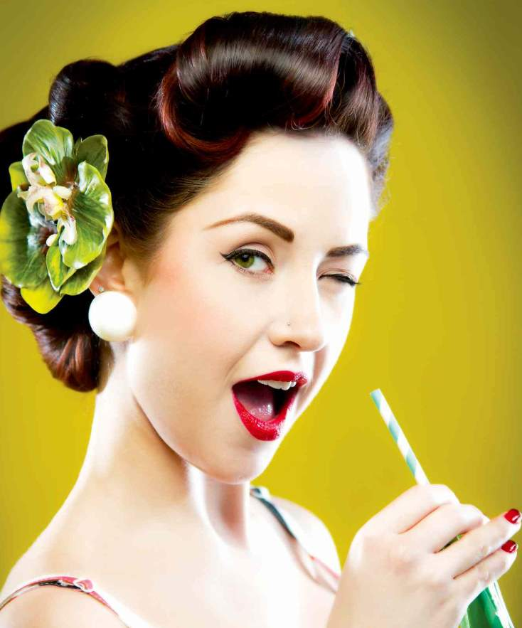 short pin up hairstyles