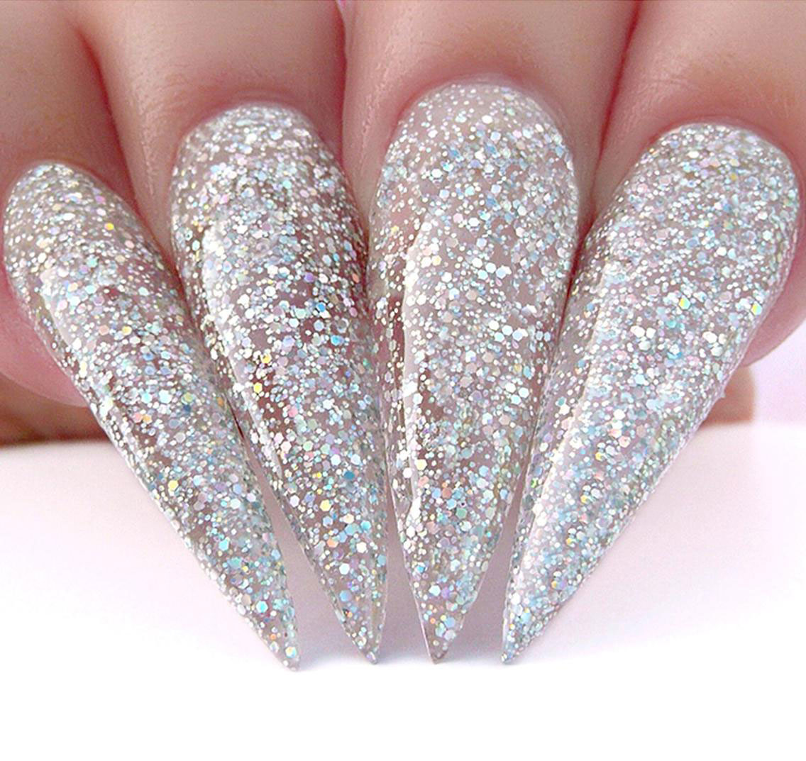 silver-glitter-nail-designs