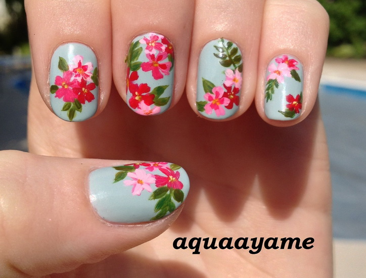 simple flower nail designs Beautiful pictures with Flower nail designs