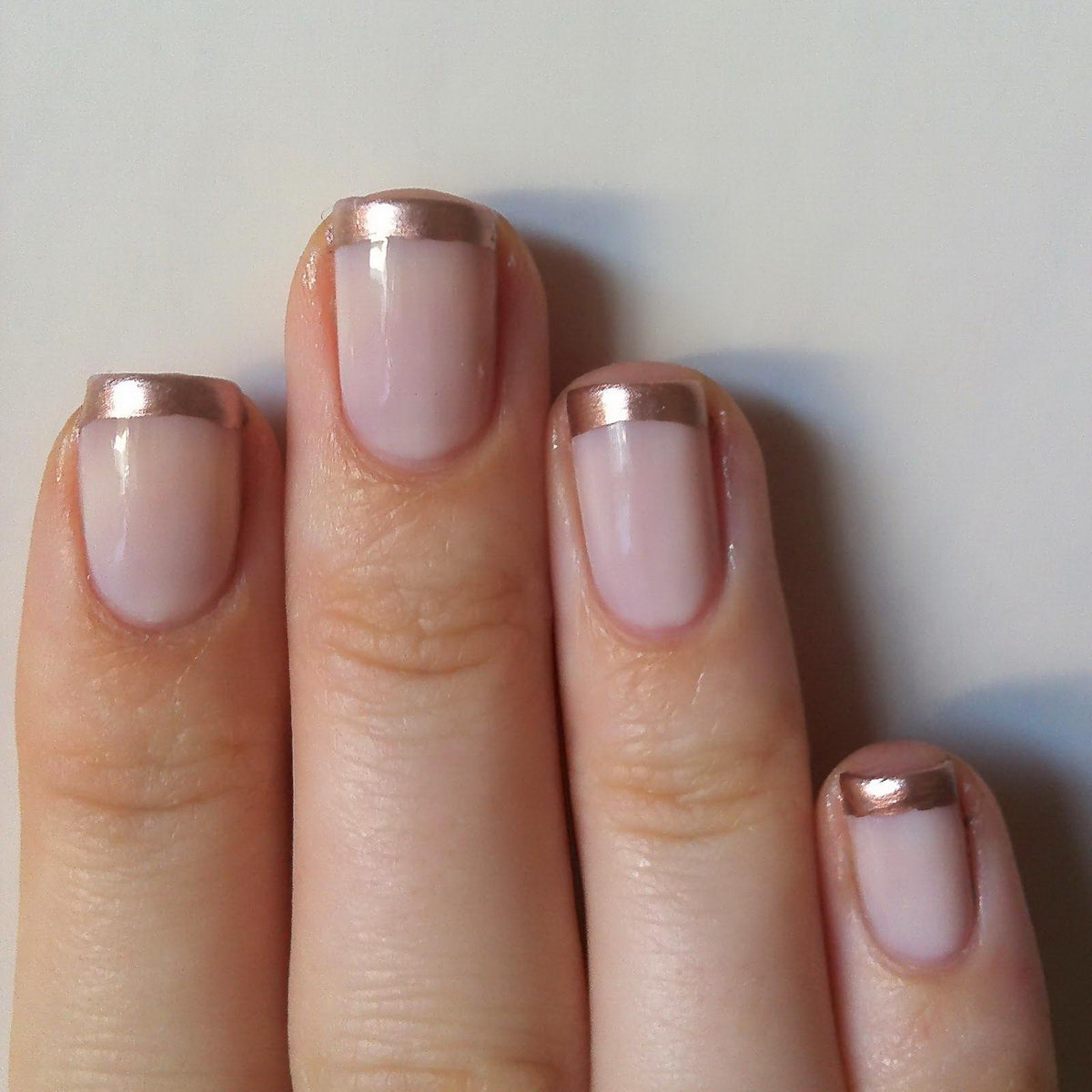 simple french tip nail art designs
