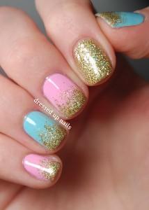 simple glitter nail designs