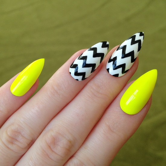 Stiletto nail designs: most beautiful ideas - Yve Style