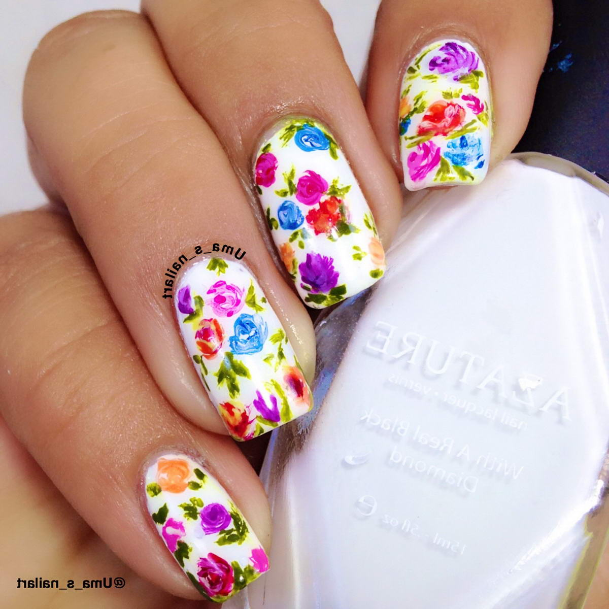 small flower nail designs