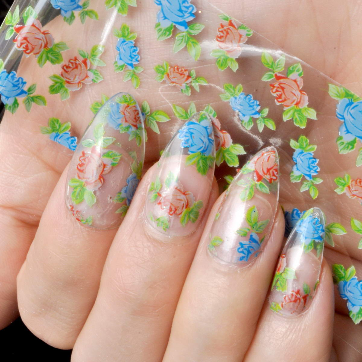 spring flower nail designs