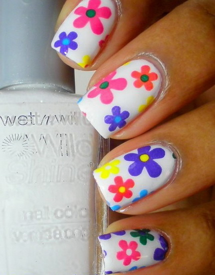 spring flower nail designs Beautiful pictures with Flower nail designs