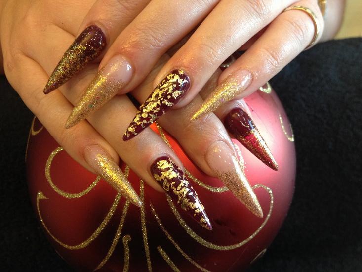 stiletto nail art Stiletto nail designs: most beautiful ideas
