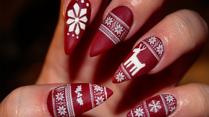 stiletto nail for winter