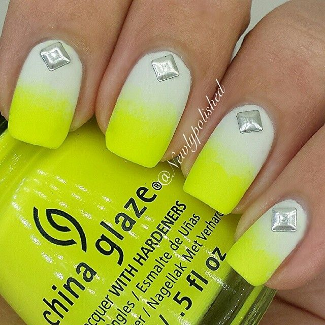 Yellow Gel Nails Designs