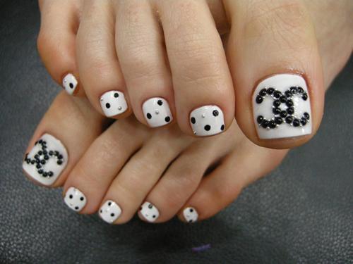 toe nail chanel design Toe Nail Designs 2015