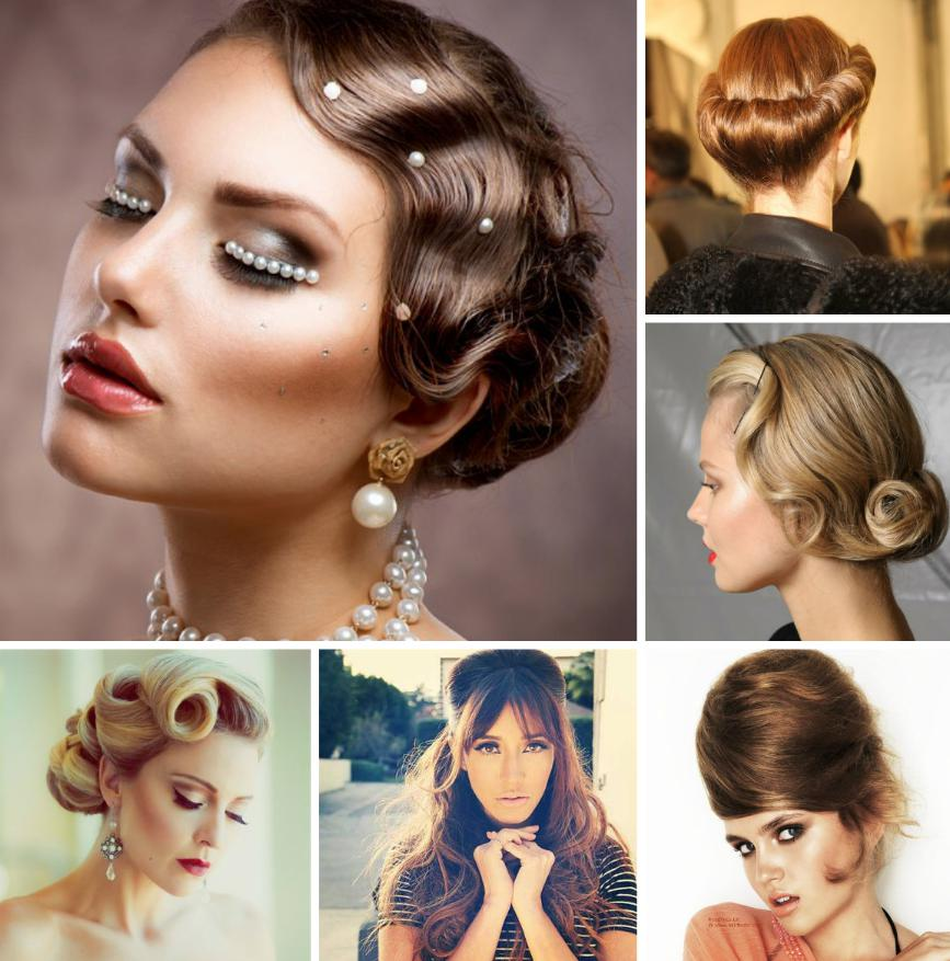 vintage hair updo