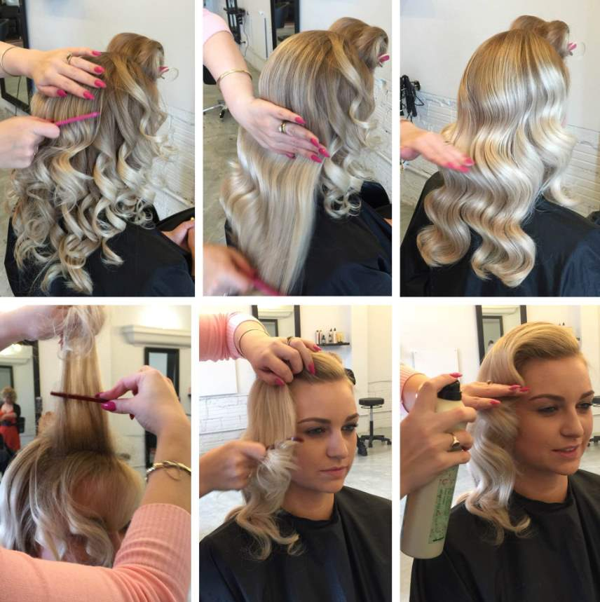 wavy pin up hairstyles