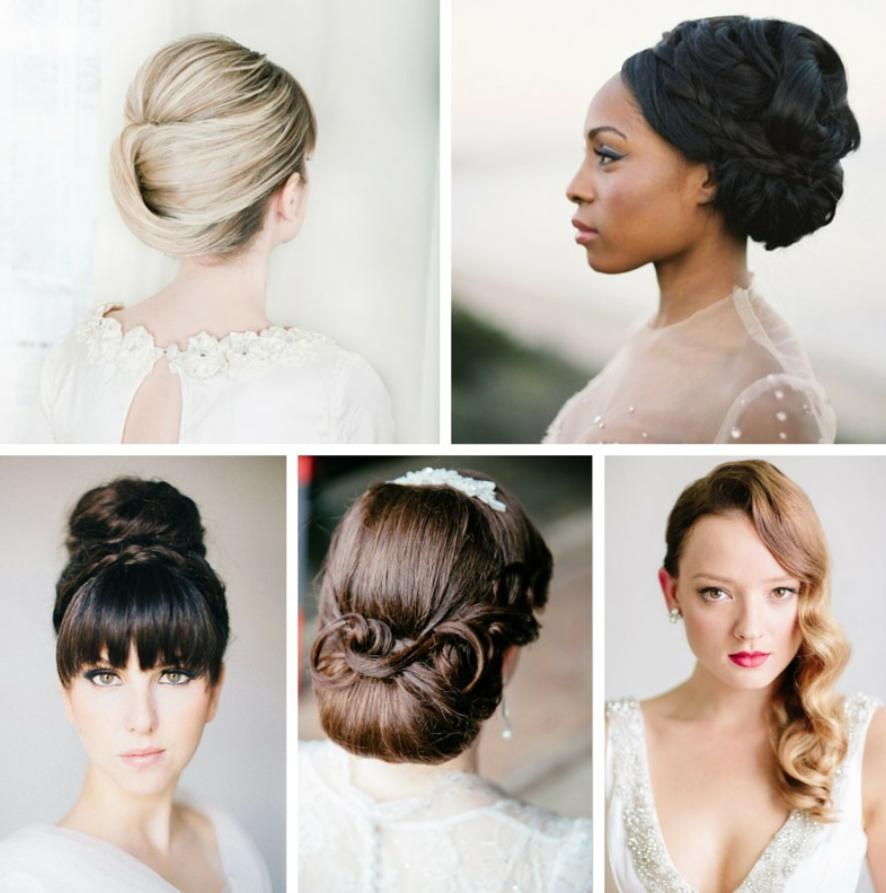 wedding bridesmaid hairstyle