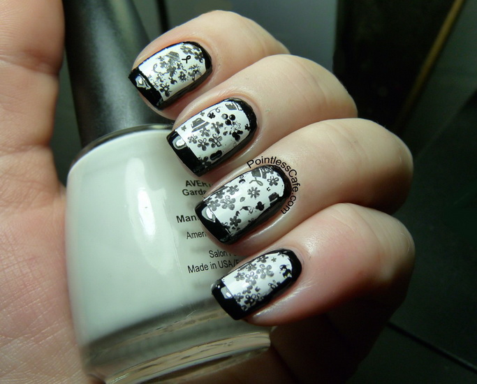 white and black nail designs 20 Amazing Black and white nail designs