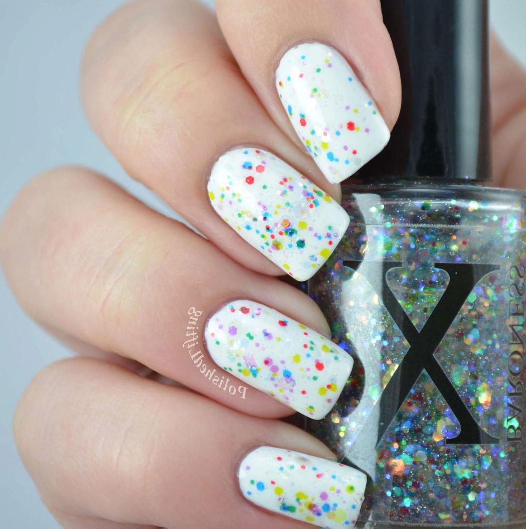 white-glitter-nail-designs
