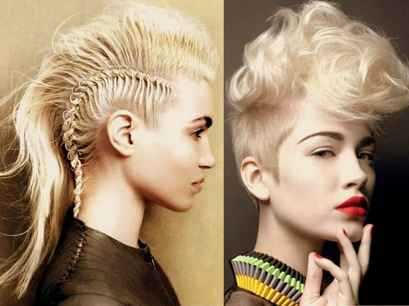Fine Mohawk Hairstyles For Women Yve Style Com Short Hairstyles For Black Women Fulllsitofus