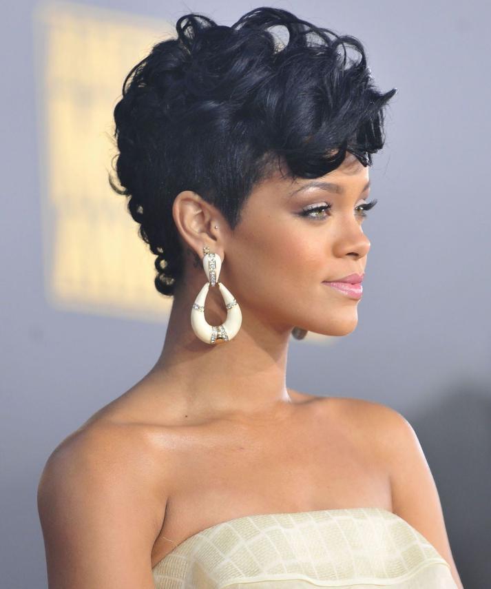 Rihanna Mohawk