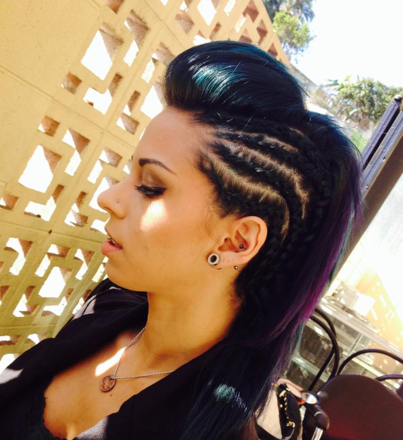 female mohawk hairstyles long hair