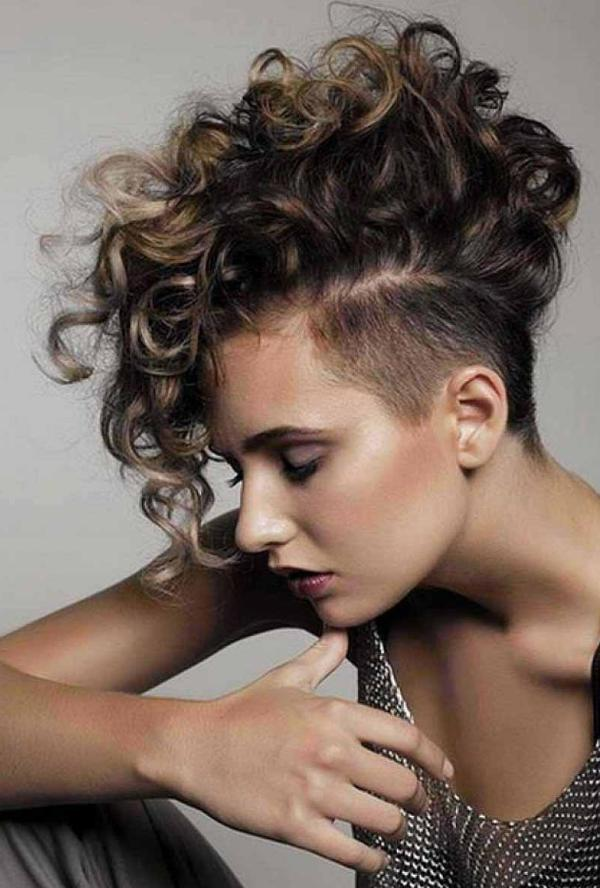 mohawk curly hairstyle