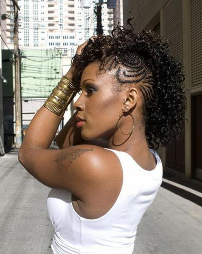 mohawk hairstyle for black ladies