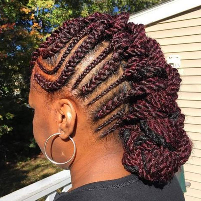 mohawk hairstyle with braids